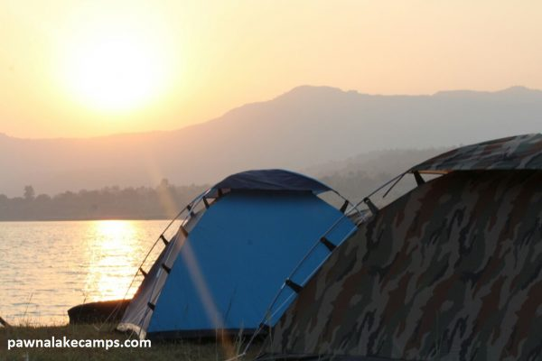 Pawna Lake Camps Tents with Sun