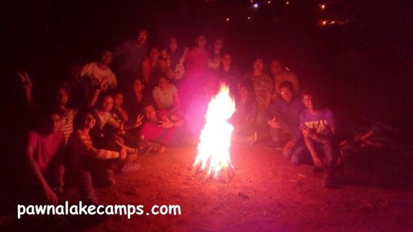 Bonfire at Pawna River Camping