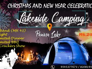 New year celebration at Pawna lake.